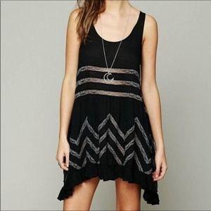 Intimately Free People Black Trapeze Dress Size S